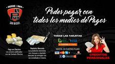 La Púa San Miguel: Podes pagar con todos los medios de Pago