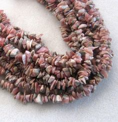Rhodochrosite Chip Beads Natural Gemstone by CatsBeadKitsandMore