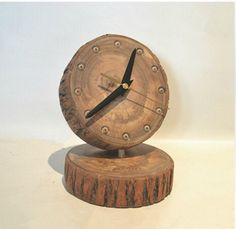 modern wooden clock | Original personality clock camphor mywood contracted and contemporary ...