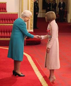 The British born #AnnaWintour of @voguemagazine receives her DBE or Dame Commander of the Order of the British Empire fromQueen Elizabeth II at Buckingham Palace. And of course she did it in style with @chanelofficial pink coat paired with nude #ManoloBlahnik heels. A big congrats!  via VOGUE THAILAND MAGAZINE OFFICIAL INSTAGRAM - Fashion Campaigns  Haute Couture  Advertising  Editorial Photography  Magazine Cover Designs  Supermodels  Runway Models