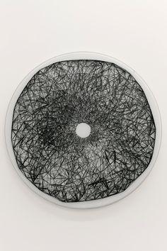 "Žilvinas Kempinas [Lithuania/USA] (b 1969) ~ ""Maia"", 2011. Wood, nails, magnetic…"