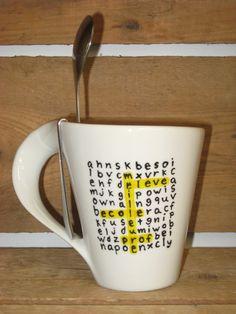 Ne parle pas encore-large latte mug céramique-drôle cadeau