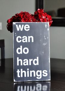 This blog has a ton of fun ideas...I like the burlap wreath on red door and hello vinyl, off home page:)