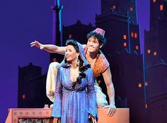 The New Broadway Musical Aladdin with Adam Jacobs and Courtney Reed as Aladdin and Princess Jasmine.
