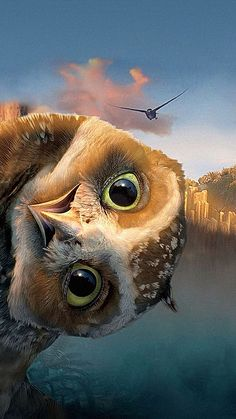 Legend of the Guardians: The Owls of Ga'Hoole 【 FuII Funny Owls, Funny Animals, Cute Animals, Funny Minion, Owl Photos, Owl Pictures, Owl Wallpaper, Trendy Wallpaper, Iphone Wallpaper