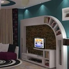 Gypsum Bourd TV Units In Action