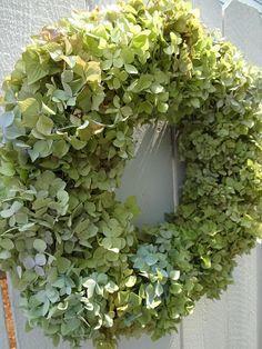 Hydrangea Wreath  Green Hydrangeas  Shabby Chic  Cottage