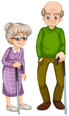 Pin on Family clipart Vieux Couples, Old Couples, Family Clipart, Happy Grandparents Day, Image Clipart, Growing Old Together, School Clipart, Family Illustration, Grandma And Grandpa