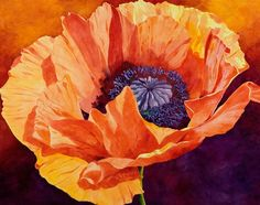 Grace, red poppy watercolor painting | Fine Art Watercolors