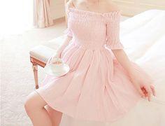 Imagem de pink, dress, and girl