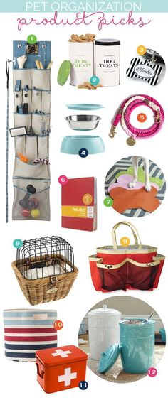 Here at come to order we do love our dogs! And these are some great, stylish products to help you keep them organized!