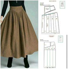 Fashion Sewing, Diy Fashion, Fashion Outfits, Dress Sewing Patterns, Clothing Patterns, Long Dress Patterns, Costume Patterns, Diy Clothing, Sewing Clothes