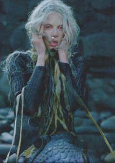 """Kristen McMenamy in """"Far Far From Land"""" by Tim Walker for W magazine"""