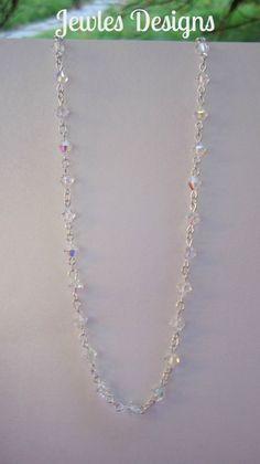 Swarovski Crystal Flower Girl  Necklace flower by JewlesDesigns, $48.00