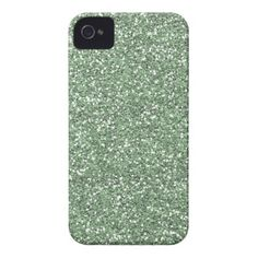 Ice Mint Faux Glitter iPhone 4 Covers