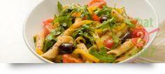 Mediterranean Pasta Salad with Basil and Garlic