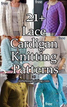 Cardigan Design, Knit Cardigan Pattern, Sweater Knitting Patterns, Lace Knitting, Knitting Stitches, Cardigan Sweaters, Lace Cardigan, Knit And Crochet Now, Crochet Tops