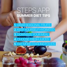 Best summer diet tips to stay healthy! ⛱  - Grab seasonal fruits - Keep yourself hydrated - Downsize your meal - Choose fresh juices - Eat more cooling fruits  Are you in? #vegan #healthyfood #foodlover #food #summerfood Seasonal Fruits, Summer Diet, Fruit In Season, Diet Tips, Juices, Summer Recipes, How To Stay Healthy, Counter, Good Food