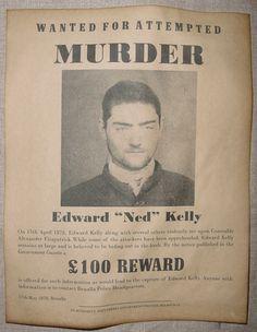 Wanted poster for infamous Australian bushranger (outlaw) Ned Kelly. Ned Kelly, Believe, Poster, Australia, Times, Billboard