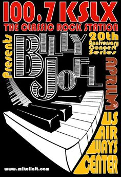Billy Joel Event Posters, Tour Posters, Band Posters, Concert Posters, Billy Joel, Music Images, Music Pictures, Racing Events, Piano Man