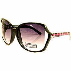 c8c042ccb06 Airwalk Women s  Bogus  Black Oversized Sunglasses