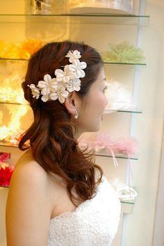 ブライダル ヘアアクセサリー ウエディングアクセサリー 髪飾り 花嫁の髪型 ヘアスタイル  花嫁の髪型 ヘアスタイル