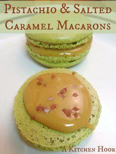 Pistachio & Salted Caramel Macarons