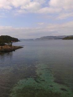 Fjorden bij Randøy Noorwegen