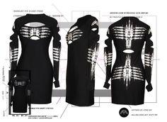DANE Nanojet Racer X Dress Cyber Goth Clubwear Gothic Bodycon Darkwave EBM   eBay