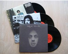 """Billy Joel Three Vinyl Record LP Albums Bundle """"Piano Man"""" """"Cold Spring Harbor"""" """"52nd Street"""" . All three for one low price."""