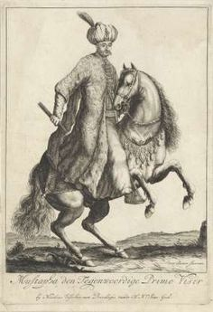 Ruiterportret van Kara Mustafa, Grootvizier in het Turkse leger, Pieter Stevens (vermeld in 1689), 1676 - 1702 - Rijksmuseum