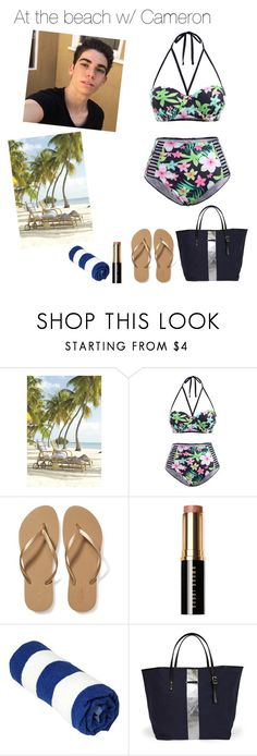 """""""At the beach w/ Cameron Boyce❤"""" by fatimairwin ❤ liked on Polyvore featuring Old Navy and Bobbi Brown Cosmetics"""