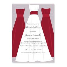 Free Printable Bridal Shower Invitations | Bridal Shower Templates | Bride & Bridesmaids (Apple Red)
