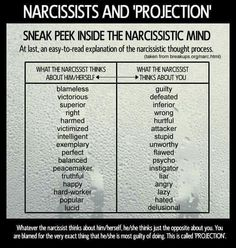 Narcissists project their stuff into you