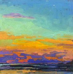 "Daily Paintworks - ""Hermosa Beach, CA"" - Original Fine Art for Sale - © Chris Long"