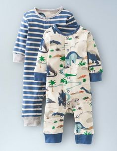 Dinosaur Twin Pack Rompers 74004 Gifting at Boden