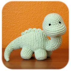 dinosaur crochet amigurumi plush in mint green door HenryStMartin
