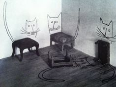 saul steinberg (best of flair) // whimsical, fun idea for creating space