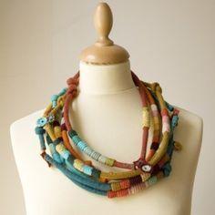 textile necklace by Maria Joao Riberio-Kjoo