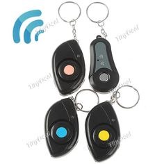 http://www.tinydeal.com/it/remote-control-key-finder-with-3-receivers-p-57108.html  1 to 3 Wireless Remote Control Electronic Key Finder Goods Finder Anti-lost Alarm