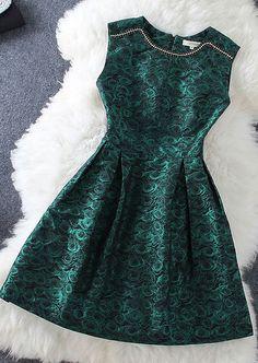 #438 Diamond Rose Sleeveless Dress