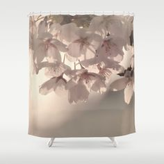 WONDERFUL SPRING Shower Curtain by SUNLIGHT STUDIOS  Monika Strigel - $68.00  #showercurtain #bathroom #curtain #pastel #mint #seagreen #pale #pink #spring #flower #blossom #cherry #tree #branches #abstract #photography #lovely #romantic #shabby #chic #vintage #farmhouse #farmhousestyle #shabbychic #home #decoration