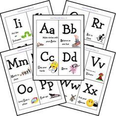 Letter G Activities for Preschool (a peek at our week!) - The Measured Mom Letter G Activities, Literacy Activities, Gross Motor Activities, Movement Activities, Preschool Classroom, Kindergarten, Toddler Preschool, Classroom Ideas, Card Workout
