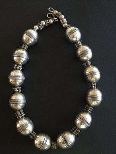 Silver beads necklace - Yemen?
