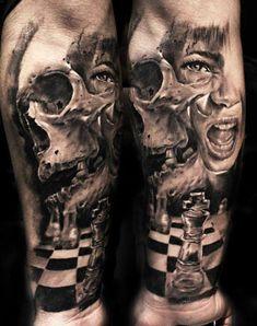 Realism Skull Tattoo by Proki Tattoo | Tattoo No. 10924