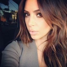 kim kardashian hair brunette
