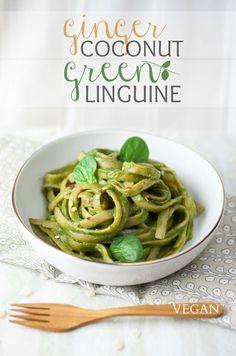 Ginger Coconut Green Linguine