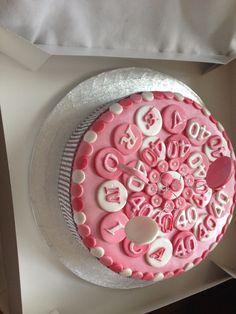 40th very pink cake