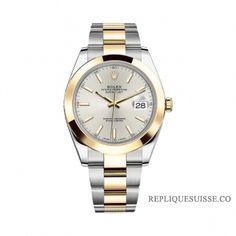 1af1f2430c7 Réplique Montre Rolex Datejust 126303 41mm plata Dial acier et 18K Or jaune  Oyster à vendre
