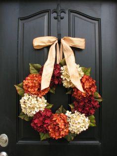 Wreath, ON SALE Wreaths, Fall Hydrangea Wreaths, FALL Wreath on Etsy, Wreaths Etsy, Fall Hydrangea Wreaths for Front Door, Hydrangea Wreath by twoinspireyou on Etsy https://www.etsy.com/listing/199227034/wreath-on-sale-wreaths-fall-hydrangea